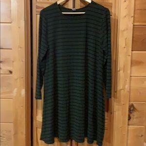 Jersey knit swing dress